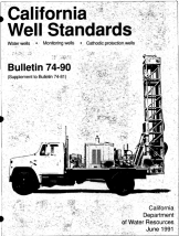 California Well Standards, Bulletin 74-90